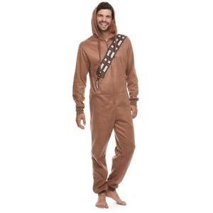 Star Wars Chewbacca Mens Hooded Zippered Pajamas